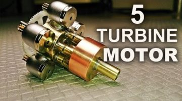 Making a quintuple turbine model motor - This is a full video of making a micro motor out of five dental air turbine handpieces.